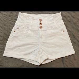 NOBO Juniors HighRise 3 Button Jean Shorts